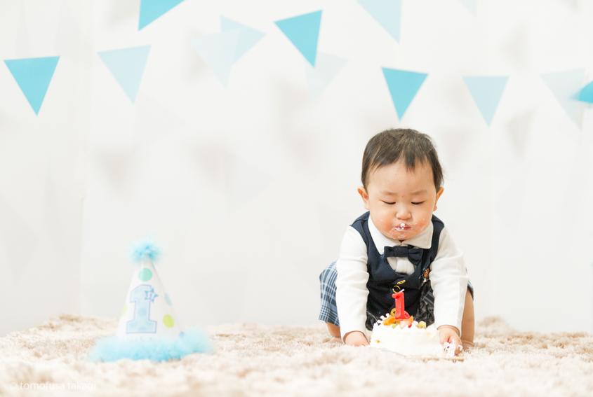 出張撮影★1歳誕生日★おうちスタジオ