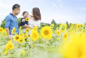 出張撮影☆家族写真☆1歳誕生日☆座間ひまわり畑