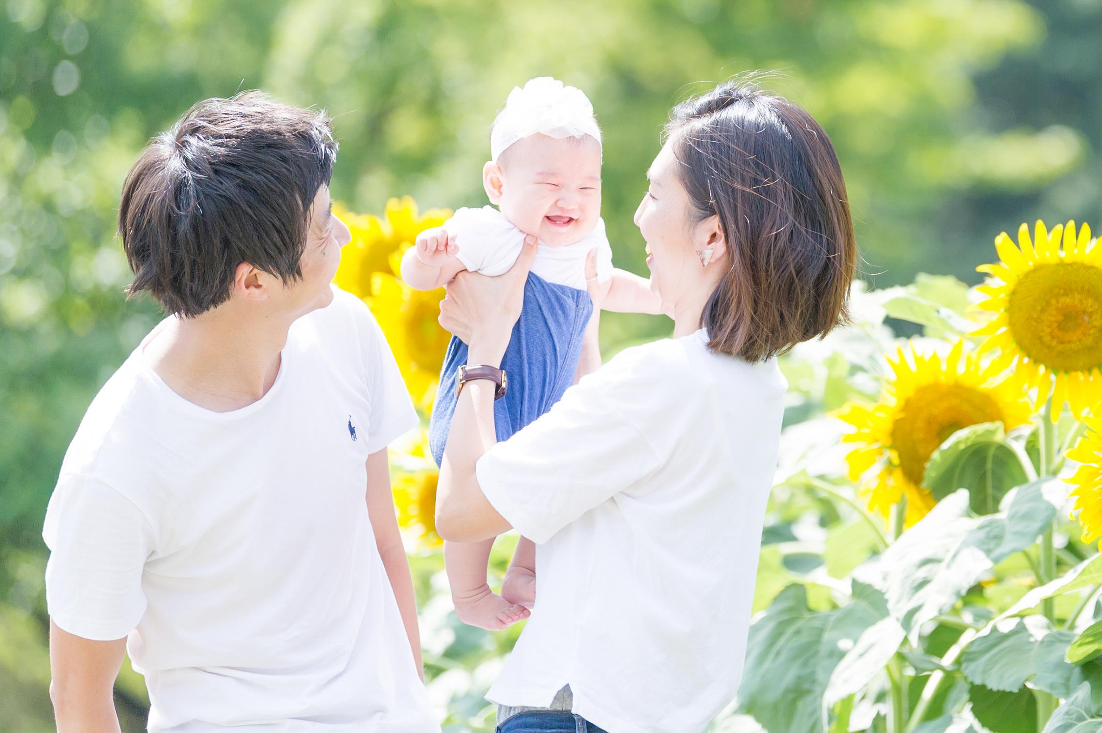 出張撮影/家族写真/ハーフバースデー/国営昭和記念公園
