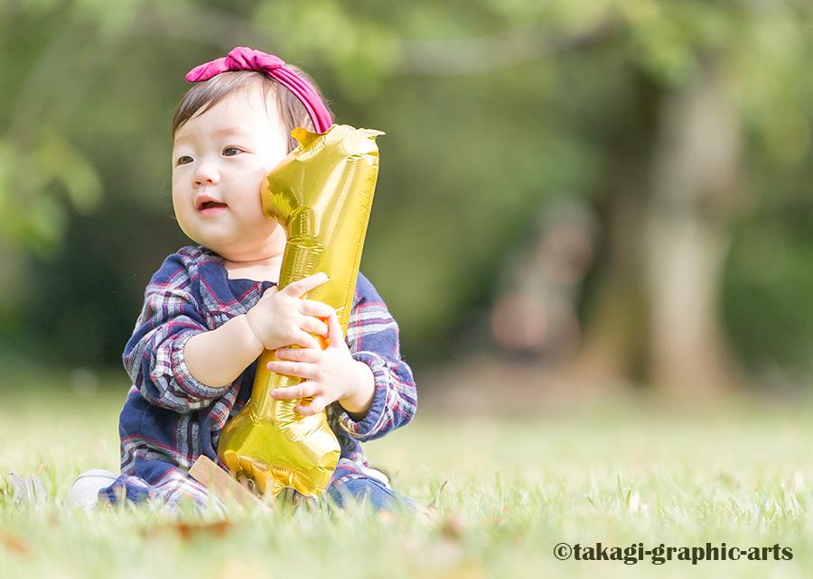 出張撮影/家族写真/1歳誕生日/新宿御苑